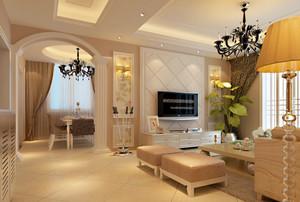 欧式别墅客厅软包电视背景墙装饰