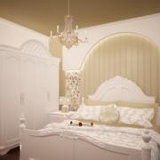 欧式奢华白色系卧室墙饰装饰