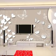复式楼简约风格电视墙饰设计