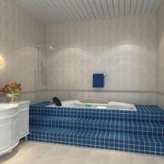 地中海卫生间浴缸装饰