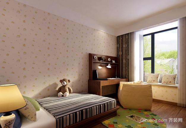 两居室温暖新中式风格儿童房设计装修效果图