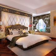 别墅欧式风格软包背景墙装饰