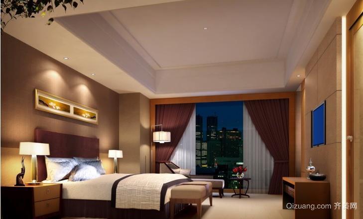 高端沉稳套房卧室装修效果图