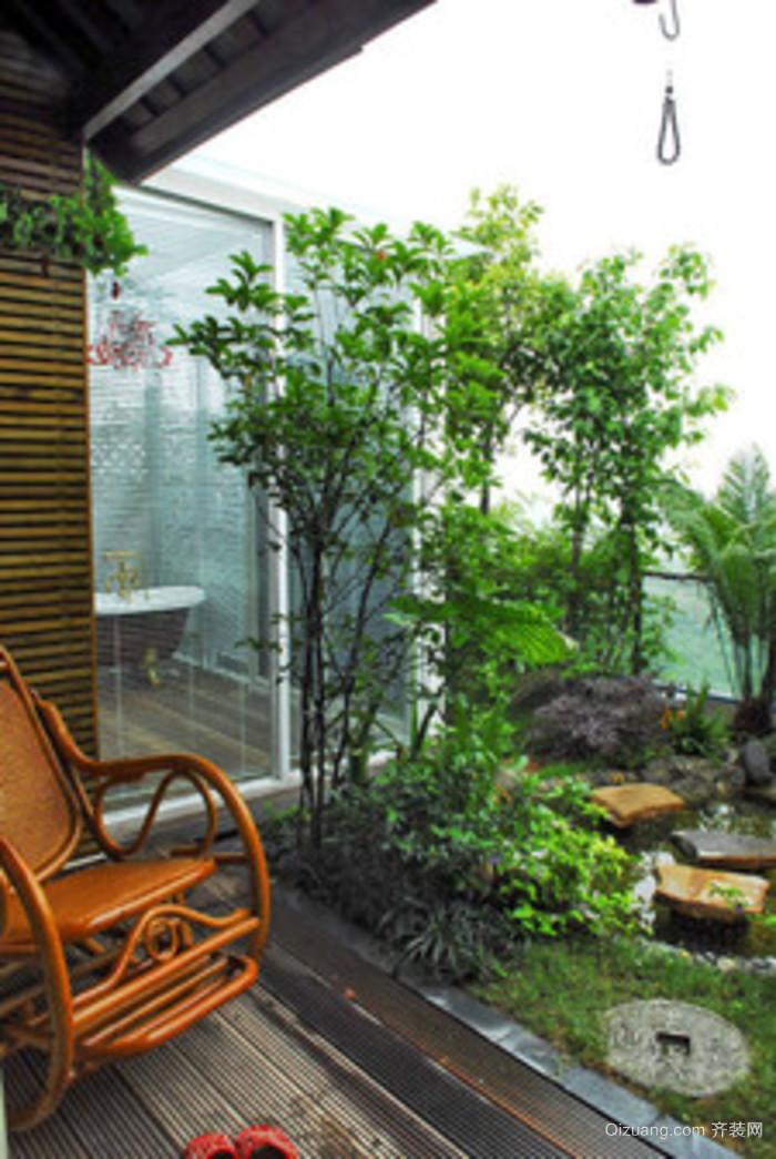 美式 别墅顶楼露台阳光房装修 设计效果图 齐装