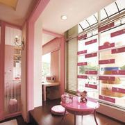 简约粉色系阳台吊顶装饰