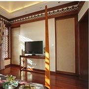 中式简约风格客厅窗帘效果图