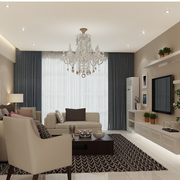 北欧客厅窗帘淡雅款式