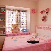 现代简约风格粉色系飘窗装饰
