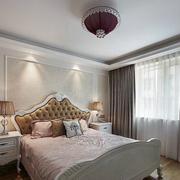 三室一厅欧式简约风格卧室飘窗装饰