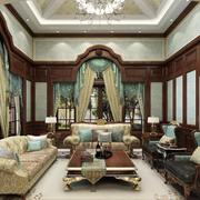 欧式经典风格客厅飘窗装饰
