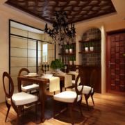 东南亚风格餐厅酒柜装饰