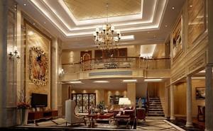 欧式奢华别墅客厅吊顶装饰