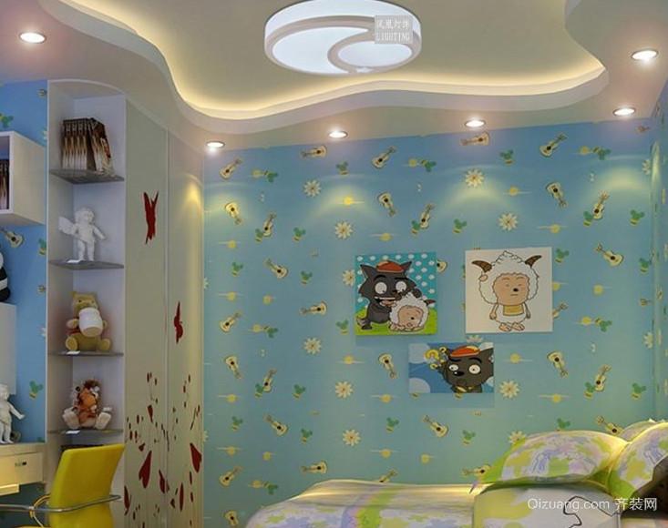 中小户型自然现代风格儿童房设计装修效果图