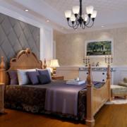 欧式风格卧室原木床饰装饰