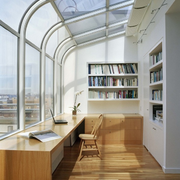 现代简约风格阳台书柜装饰