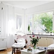 北欧客厅窗帘简约款式