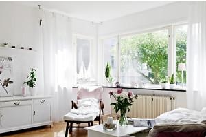 北欧客厅窗帘效果图