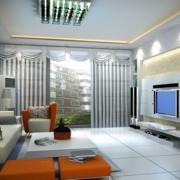 精巧简洁的客厅射灯