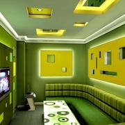 果绿色简约风格ktv吊顶装饰