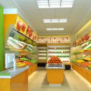 水果店简约风格柜台装饰