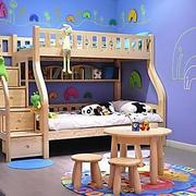 简约小清新蓝色儿童床