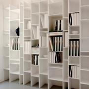 现代简约风格客厅整体书柜装饰