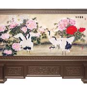 中式雕花屏风装饰