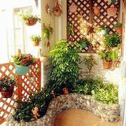 东南亚风格深色系露台装饰