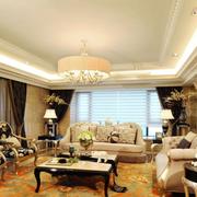 法式风格奢华客厅吊顶装饰