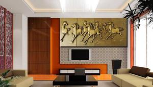 中式风格魔块背景墙