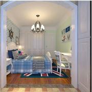 地中海风格儿童房床头背景墙装饰
