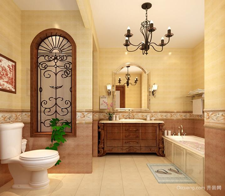 大户型高雅美式风格卫生间设计装修效果图