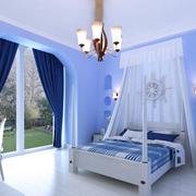 紫蓝色卧室图片