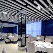 后现代风格饭店密集式吊顶装饰
