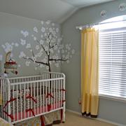美式简约风格儿童房墙贴设计