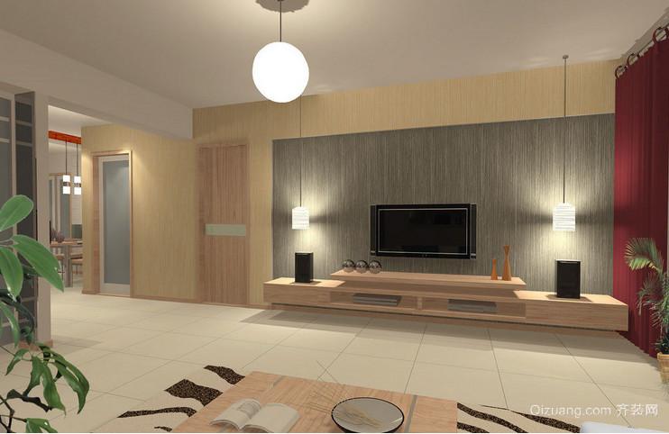 2015现代简约客厅电视背景墙效果图