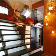 中式阁楼楼梯小户型