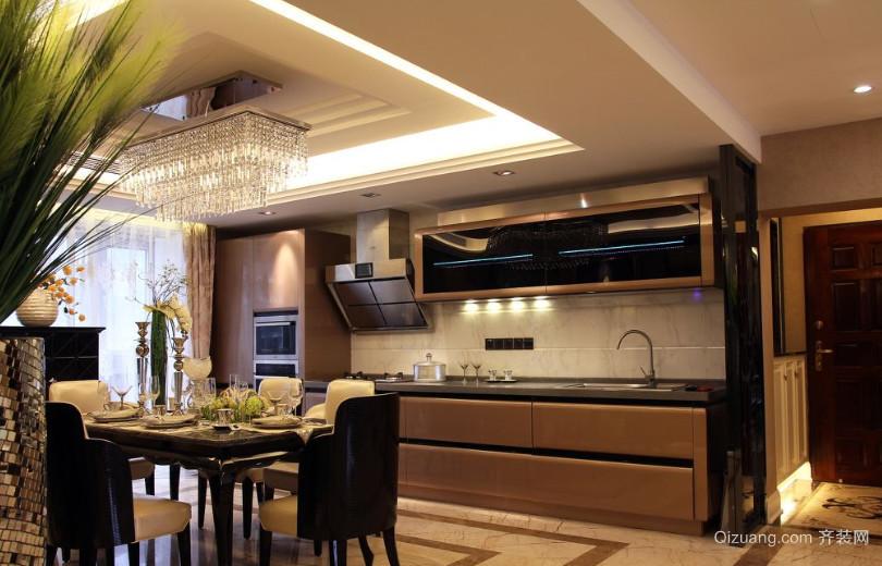 120㎡小复式楼开放式厨房装修效果图