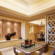 东南亚风格客厅隔断装饰