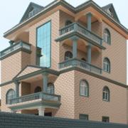 大型独栋简约风格别墅外墙装饰