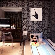 欧式风格深色系卧室装饰