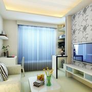 现代清新印花电视墙装饰