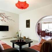 现代简约风格客厅拱门装饰