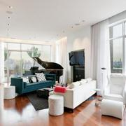 北欧风格清新复式楼客厅窗户装饰