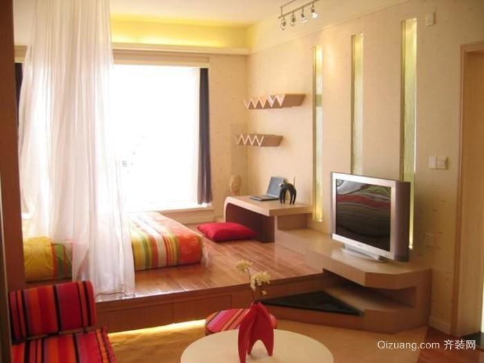 20平米现代简约小卧室房间装修效果图