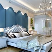 欧式简约风格蓝色系床头墙饰装饰