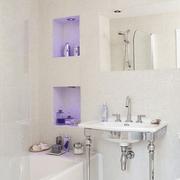 韩式风格清新卫生间洗漱池装饰