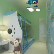 现代简约风格儿童房上下铺装饰