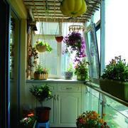欧式田园风格阳台柜子装饰