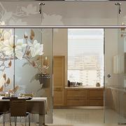 中式清新风格橱柜印花门饰装饰